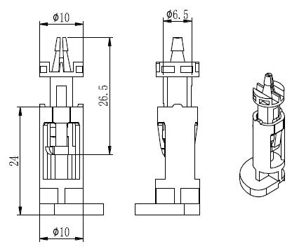 厂家低价批发 塑料铆钉散热铆钉散热风扇铆钉sfk-01 pc-黑色 白色